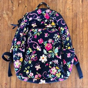 VERA BRADLEY Quilted Floral Laptop Backpack